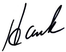 Hank Torber signature